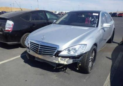 2013 MERCEDES BENZ S550 BASE - SILVER ON BLACK 2