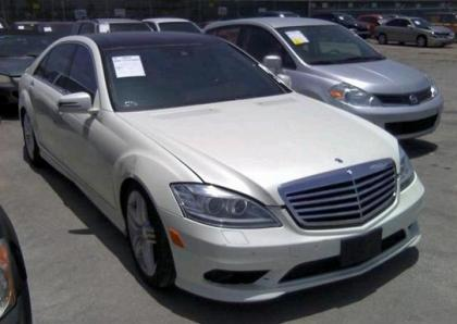 2013 MERCEDES BENZ S550 4MATIC - WHITE ON BLACK