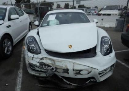 Export Salvage 2014 Porsche Cayman Base Coupe White On Black