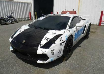 2005 LAMBORGHINI GALLARDO AWD - WHITE ON BLACK 2