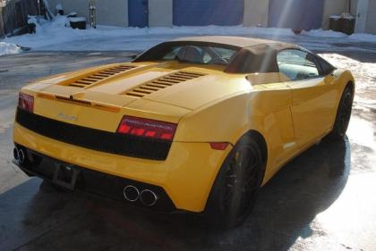 2010 LAMBORGHINI GALLARDO SPYDER - YELLOW ON BLACK 5