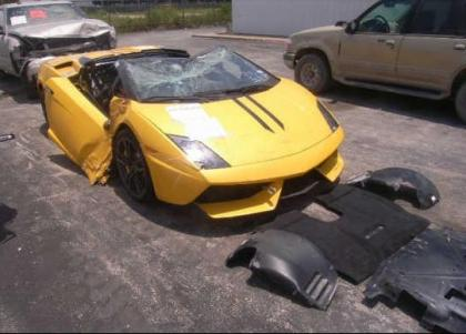 Export Salvage 2012 Lamborghini Gallardo Spyder Yellow On Black