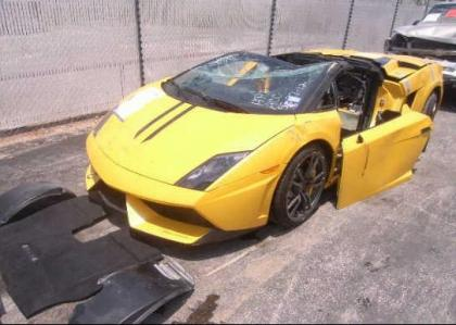 2012 LAMBORGHINI GALLARDO SPYDER - YELLOW ON BLACK 2