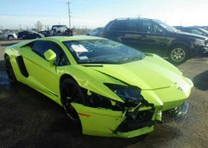 2014 LAMBORGHINI AVENTADOR AWD   GREEN ON BLACK 1 ...