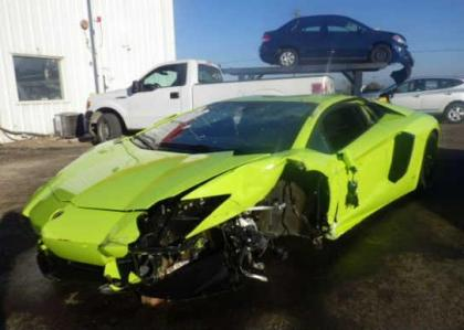 ... 2014 LAMBORGHINI AVENTADOR AWD   GREEN ON BLACK 2 ...