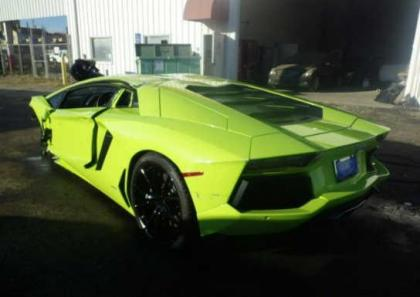 2014 LAMBORGHINI AVENTADOR AWD - GREEN ON BLACK 3
