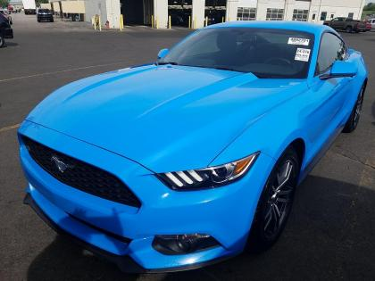 2017 Ford Mustang Ecoboost Blue On Black 1