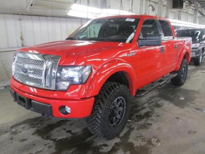 2013 FORD F-150 XLT - RED ON BLACK