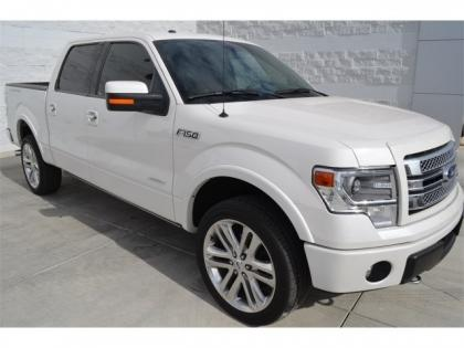 2013 FORD F-150 LIMITED - WHITE ON RED