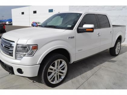 export used 2013 ford f 150 limited white on red. Black Bedroom Furniture Sets. Home Design Ideas
