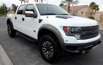 2013 FORD F-150 RAPTOR - WHITE ON BLACK
