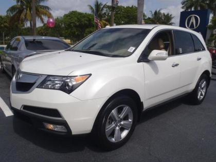 2011 ACURA MDX AWD - WHITE ON BEIGE