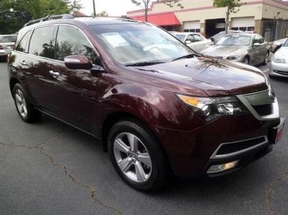 2011 ACURA MDX TECHNOLOGY PACKAGE - RED ON GRAY