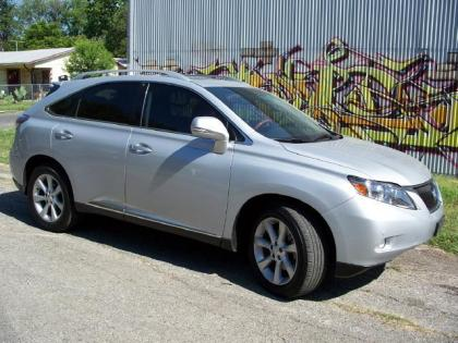 2011 LEXUS RX350 BASE - SILVER ON BLACK