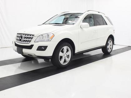 2010 MERCEDES BENZ ML350 4MATIC - WHITE ON BEIGE
