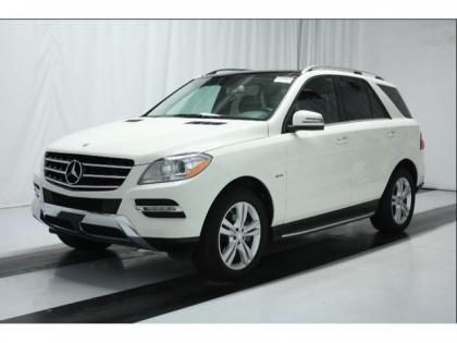 Export Used 2012 Mercedes Benz Ml350 W4 White On Black