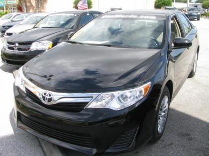 2012 TOYOTA CAMRY LE - BLACK ON GRAY