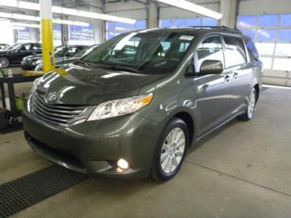 2013 TOYOTA SIENNA LIMITED - GREEN ON BEIGE