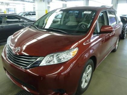 2013 TOYOTA SIENNA LE - RED ON GRAY
