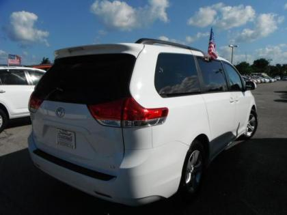 2011 TOYOTA SIENNA LE - WHITE ON GREY 2