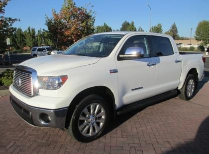 2013 TOYOTA TUNDRA PLATINUM - WHITE ON BLACK