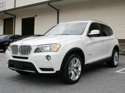 2012 BMW X3 XDRIVE35I - WHITE ON BLACK