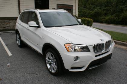2012 BMW X3 XDRIVE35I - WHITE ON BLACK 2
