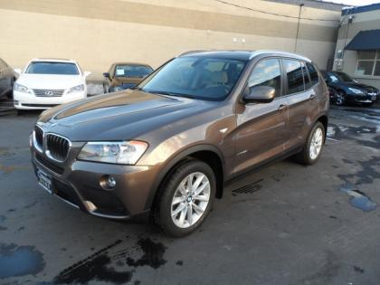 2013 BMW X3 XDRIVE28I - BROWN ON WHITE