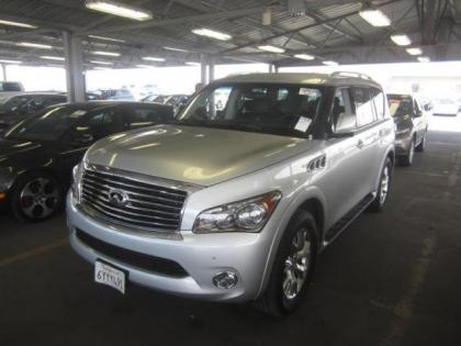 2013 INFINITI QX56 BASE - SILVER ON BLACK
