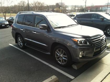 2013 LEXUS LX570 BASE - GRAY ON BLACK
