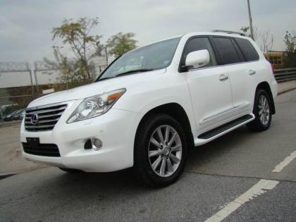 2010 LEXUS LX570 BASE - WHITE ON BEIGE