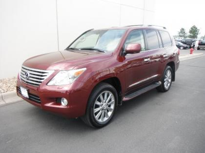 2011 LEXUS LX570 BASE - RED ON BEIGE