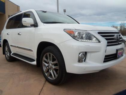 2013 LEXUS LX570 BASE - WHITE ON BEIGE