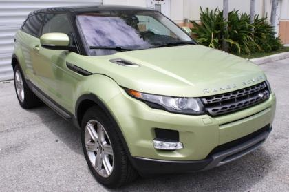 2013 LAND ROVER RANGE ROVER EVOQUE PURE PLUS - GREEN ON BLACK