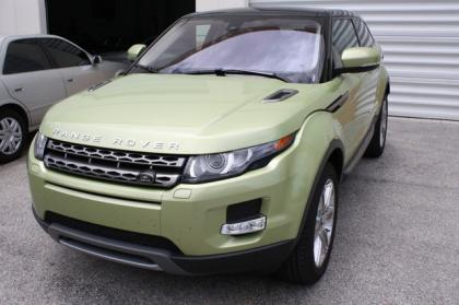 2013 LAND ROVER RANGE ROVER EVOQUE PURE PLUS - GREEN ON BLACK 2