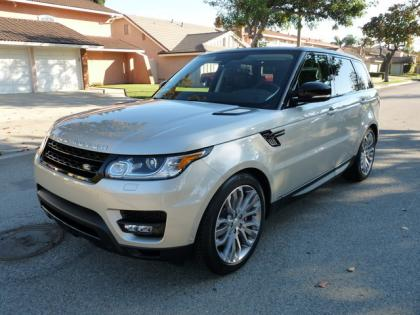 2014 LAND ROVER RANGE ROVER SPORT SUPERCHARGED - SILVER ON BROWN