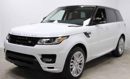 export used 2014 land rover range rover sport autobiography white on orange. Black Bedroom Furniture Sets. Home Design Ideas