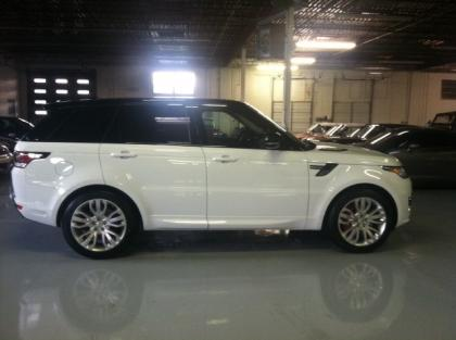 export used 2014 land rover range rover sport autobiography white on red. Black Bedroom Furniture Sets. Home Design Ideas
