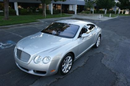 2004 BENTLEY CONTINENTAL GT - SILVER ON BEIGE