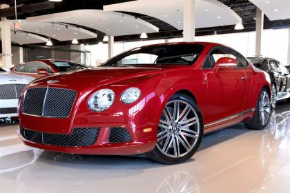 2013 BENTLEY CONTINENTAL GT SPEED - RED ON BLACK