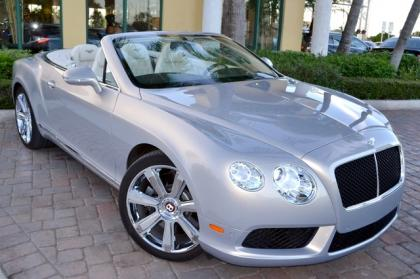 2013 BENTLEY CONTINENTAL GT V8 - SILVER ON GRAY
