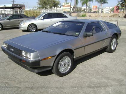 1983 DELORIAN DMC-12 BASE - SILVER ON GRAY