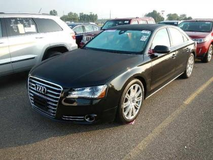 2013 AUDI A8 BASE - BLACK ON BLACK