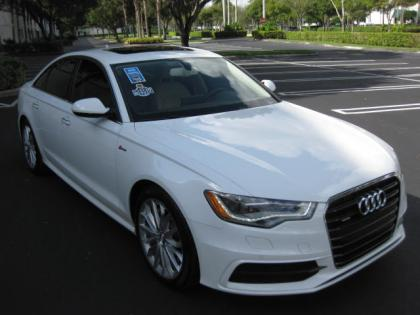 2012 AUDI A6 3.0T QUATTRO - WHITE ON BEIGE