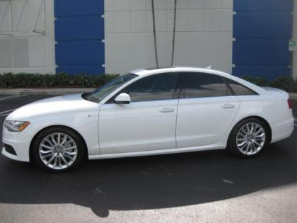 export used 2012 audi a6 3 0t quattro white on beige. Black Bedroom Furniture Sets. Home Design Ideas