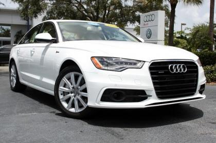 2012 AUDI A6 3.0T - WHITE ON BEIGE