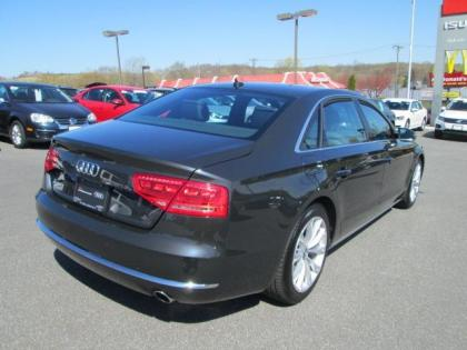 export used 2013 audi a8 l gray on black