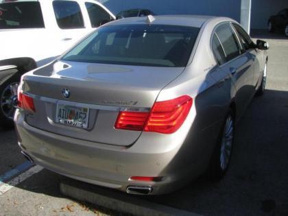 Export Used 2012 Bmw 750li V8 Gold On Brown