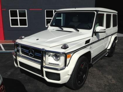 2013 MERCEDES BENZ G63 AMG - WHITE ON WHITE 1