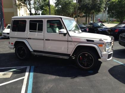 2013 MERCEDES BENZ G63 AMG - WHITE ON WHITE 2